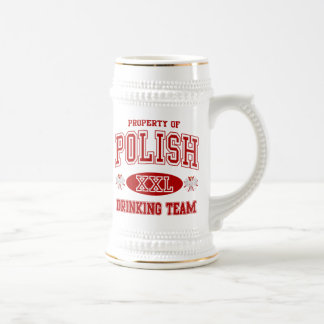 Polish Drinking Team Beer Stein