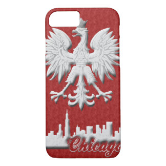 Polish Eagle Chicago Skyline iPhone 7 Case