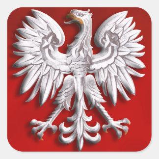Polish Eagle Levitate Square Sticker