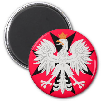 Polish Eagle Maltese Cross Magnet