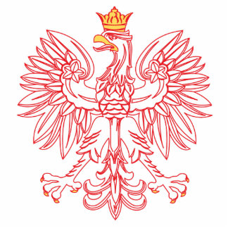 Polish Eagle Outlined In Red Photo Sculpture Ornament