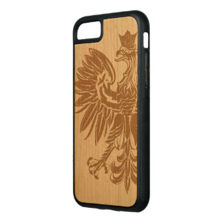 Polish Eagle Poland Flag Carved iPhone 7 Case