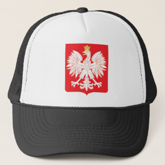 Polish Eagle Red Shield Trucker Hat