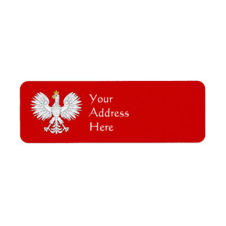 Polish Eagle Return Address Label