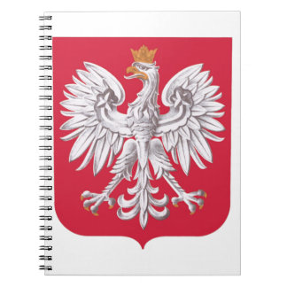 Polish Eagle Shield Spiral Notebook