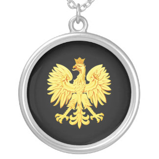 Polish eagle silver plated necklace