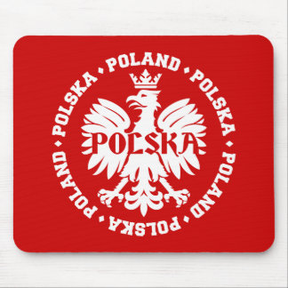 Polish Eagle with Poland Polska Text Mouse Pad