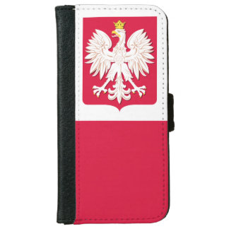 Polish Flag Coat of Arms iPhone 6 Wallet Case