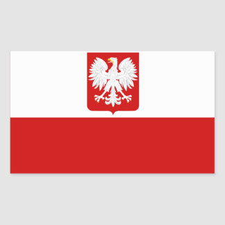Polish Flag Coat of Arms Sticker