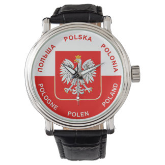 Polish Flag colors with White Eagle Watch