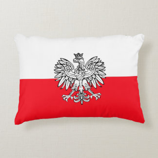 Polish flag decorative pillow