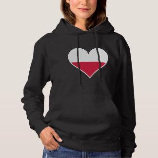 Polish Flag Heart Hoodie