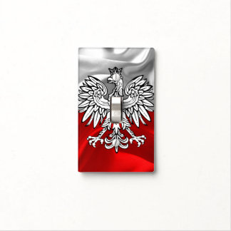 Polish flag light switch cover