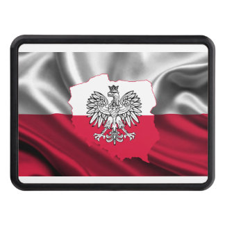 Polish Flag Map Car Hitch Trailer Hitch Cover