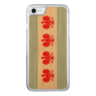 Polish Flag of Chicago Carved iPhone 7 Case