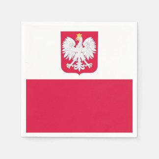 Polish flag paper napkins