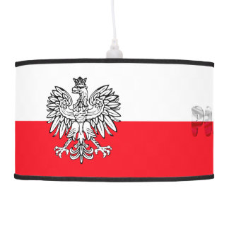 Polish flag pendant lamp