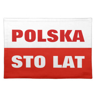 Polish flag placemat | Poland color Sto Lat Polska