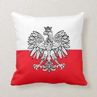 Polish flag throw pillow