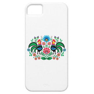 Polish floral embroidery, traditional folk pattern iPhone 5 cases