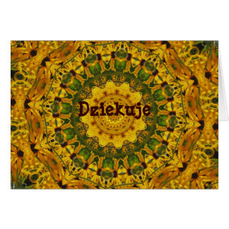 Polish Flower Kaleidoscope Thank You Card