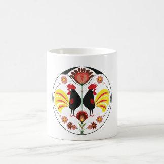 Polish Folk With Decorative Roosters, Mug