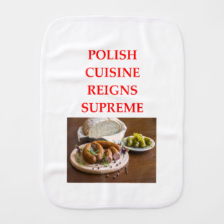 polish food burp cloth