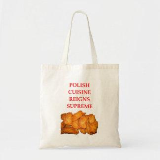 polish food tote bag