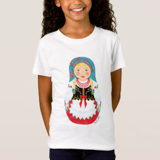Polish Girl Matryoshka Girls Baby Doll (Fitted) T-Shirt