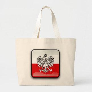 Polish glossy flag large tote bag