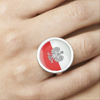 Polish glossy flag rings