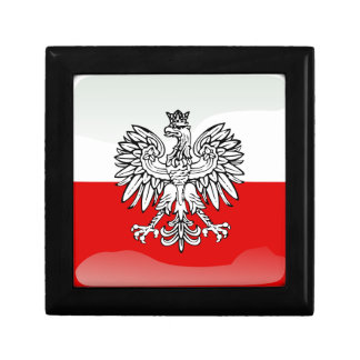 Polish glossy flag trinket boxes