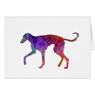 Polish Greyhound in watercolor Card