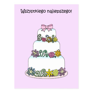 Polish Happy Birthday Postcard