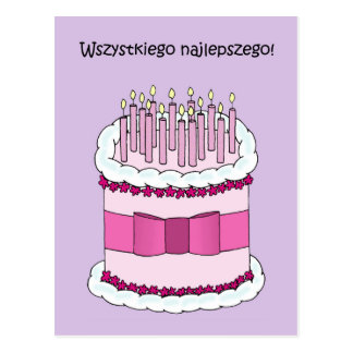 Polish Happy Birthday Postcard