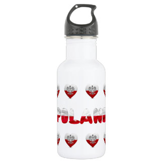 Polish heart flag 532 ml water bottle