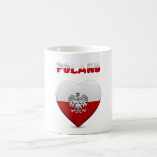 Polish heart flag coffee mug