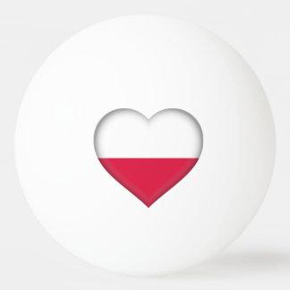Polish Heart Ping Pong Ball