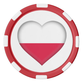 Polish Heart Poker Chip