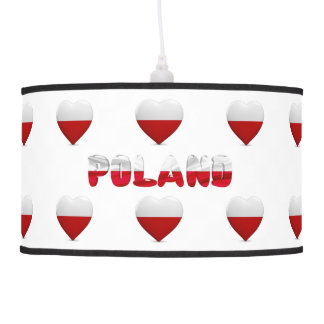 Polish hearts pendant lamp