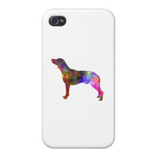 Polish Hunting Dog in watercolor Covers For iPhone 4