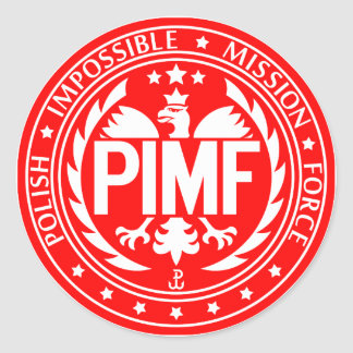 Polish Impossible Mission Force Classic Round Sticker