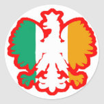 POLISH/IRISH FLAG ROUND STICKERS