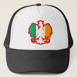 POLISH/IRISH FLAG TRUCKER HAT