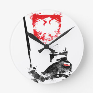 Polish Knight Round Clock