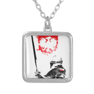 Polish Knight Silver Plated Necklace