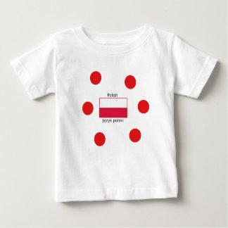 Polish Language And Poland Flag Design Baby T-Shirt