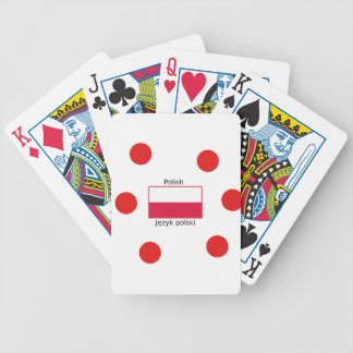 Polish Language And Poland Flag Design Bicycle Playing Cards