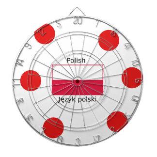 Polish Language And Poland Flag Design Dartboard