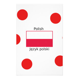 Polish Language And Poland Flag Design Stationery